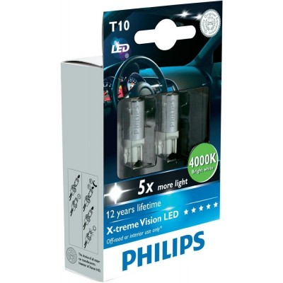 Philips 12799KX2 W5W 12V-1W LED 4000K